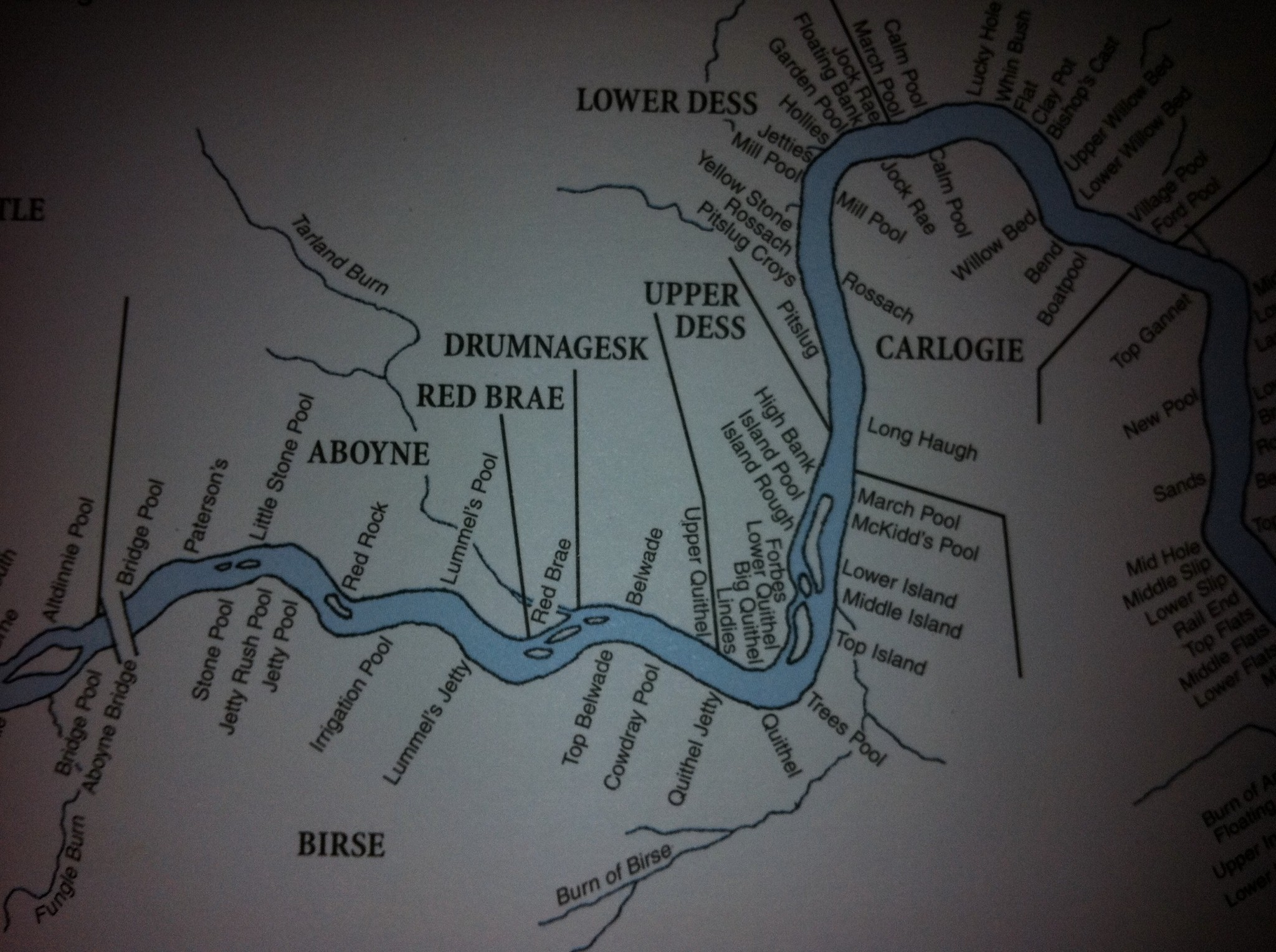 Upper Dess Map