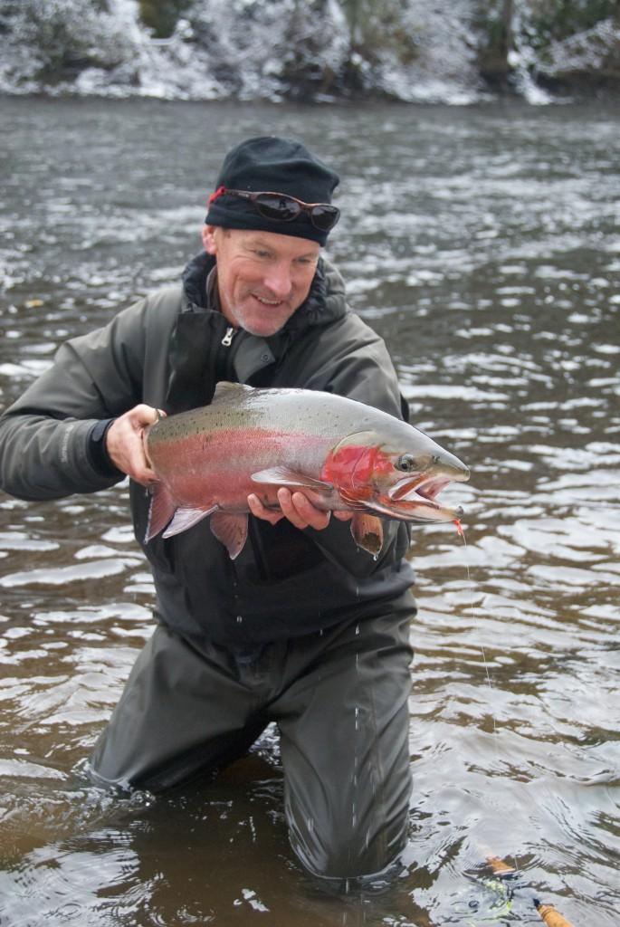 Leif Stävmo med Steelhead från British Columbia