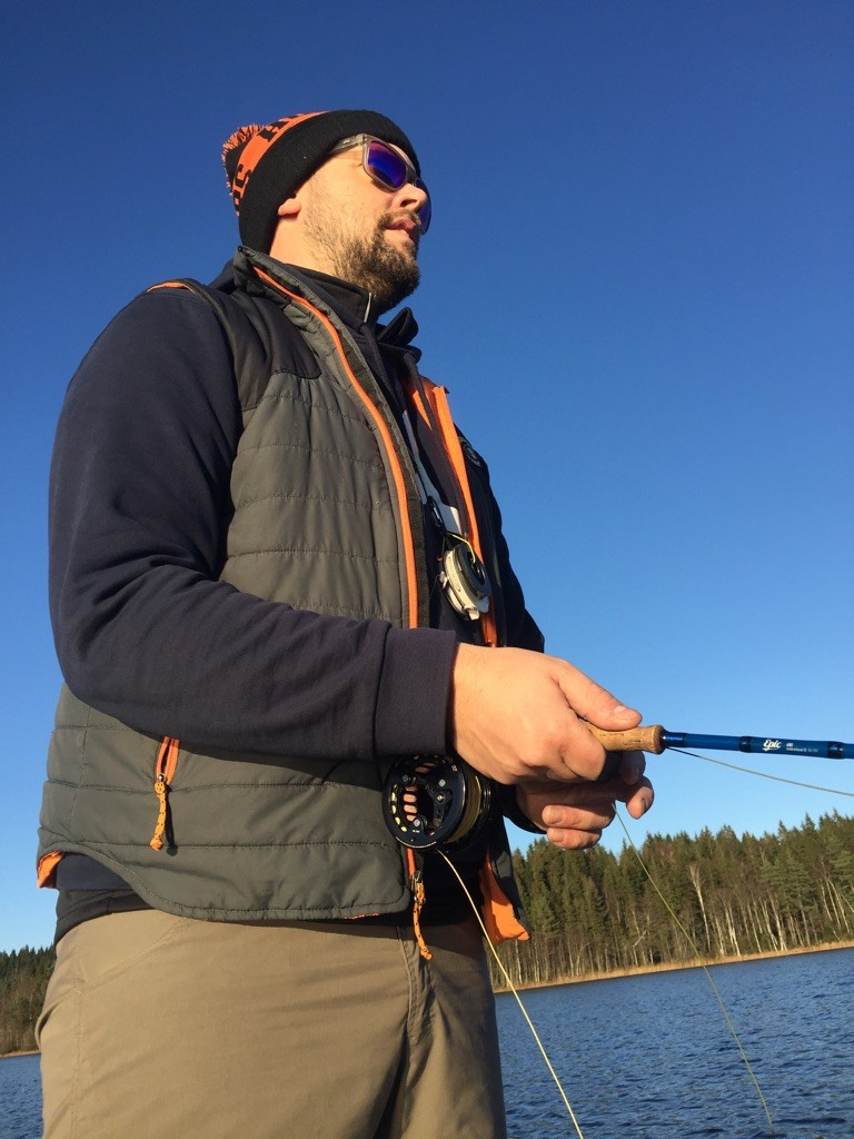 Hanky, Fishline, hunting rainbowtrout