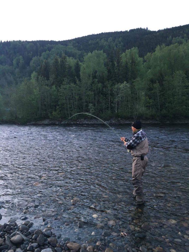 Fast fisk på första vändan för dagen