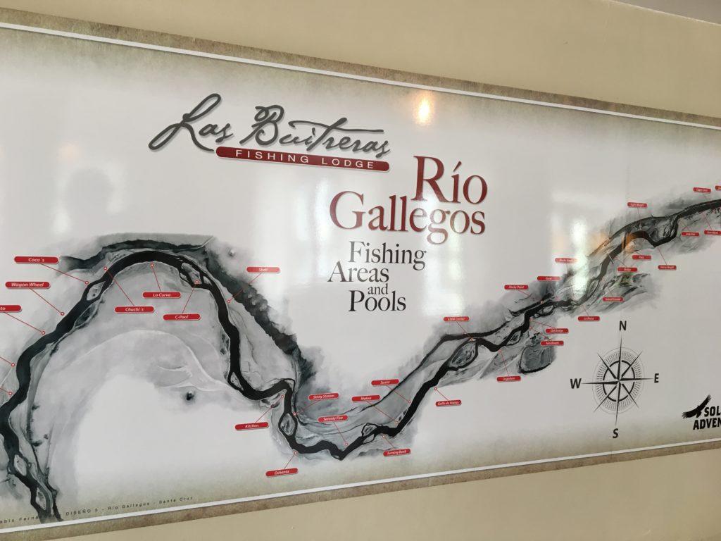 Poolkartan i lodgen studeras dagligen av samtliga fiskare