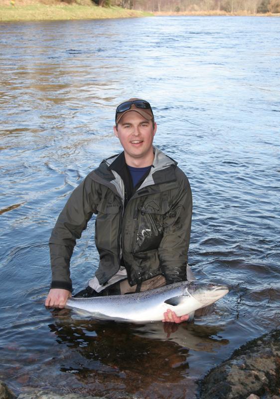 Orkla-Ola med vacker Springer från Banchory Beat, River Dee